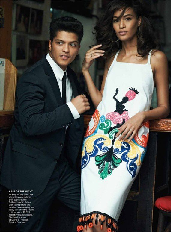 joan smalls bruno mars vogue juin 2011 7