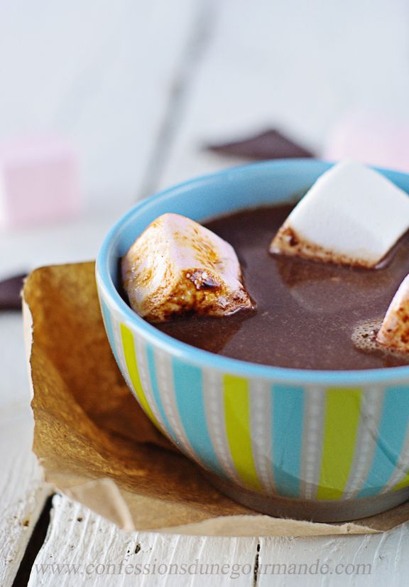 Soupe au chocolat et marshmallows 3