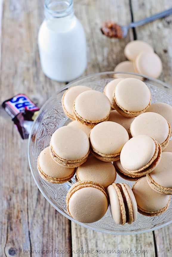 Macarons aux snickers - Confessions d'une gourmande
