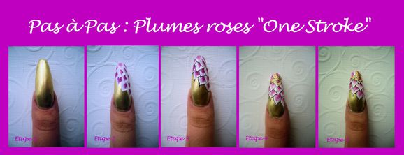 Plumes roses tuto