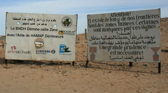 Attention mines Sahara de Mauritanie