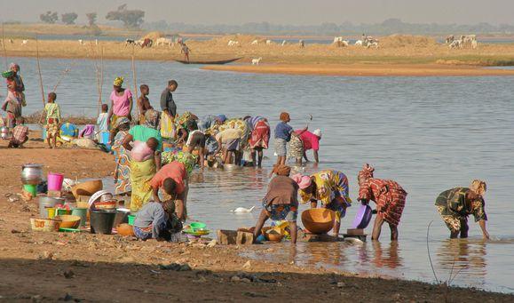 Vie au bord du Niger à côté de Markala