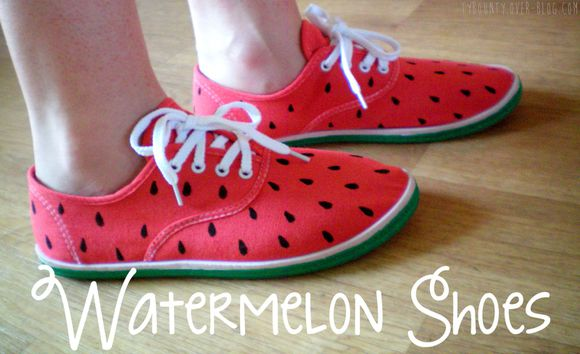 Watermelon Shoes DIY chaussures pastèque