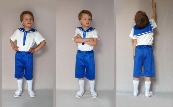 cortège robe Marine bleu électrique et blanc 2 petit mari