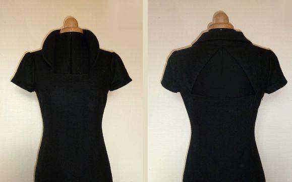 robe noire laine 2