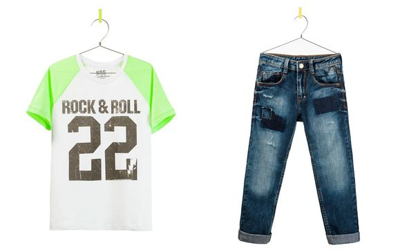 JEAN ET T SHIRT ROCK ZARA