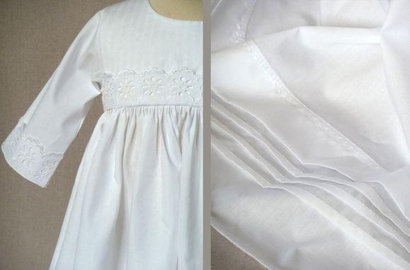 robe baptême coton 2