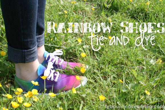 rainbow shoes DIY chaussures arc-en-ciel