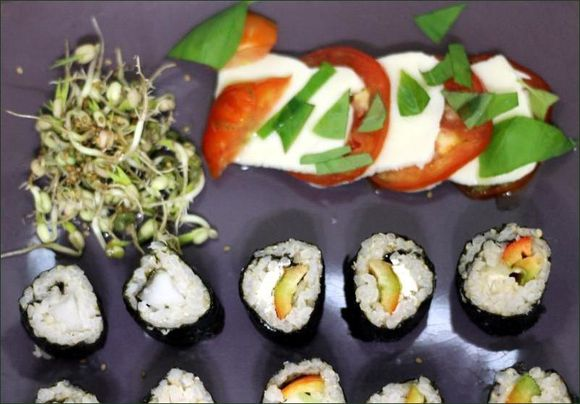 petite caprese avec vg makis vegecarib1109