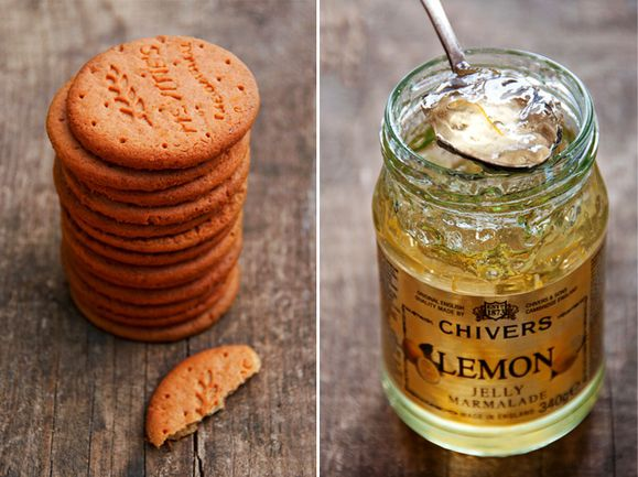 Biscuits digestives lemon jelly