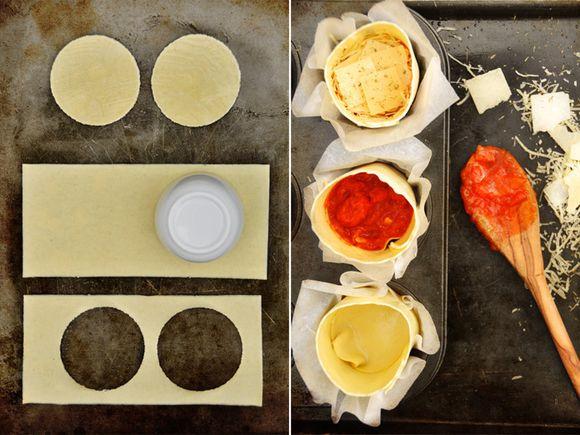 Preparation lasagnes cupcakes