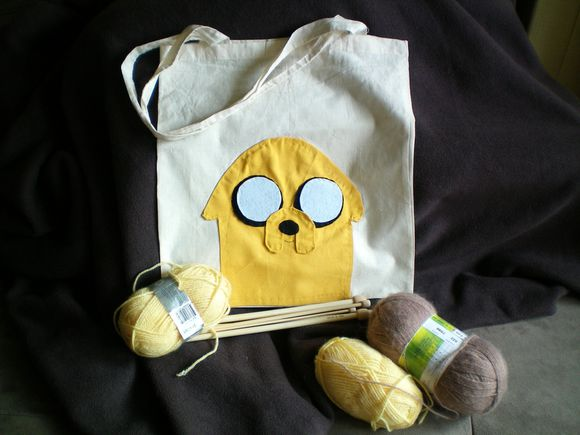 Tote bag jake the dog adventure time (37)