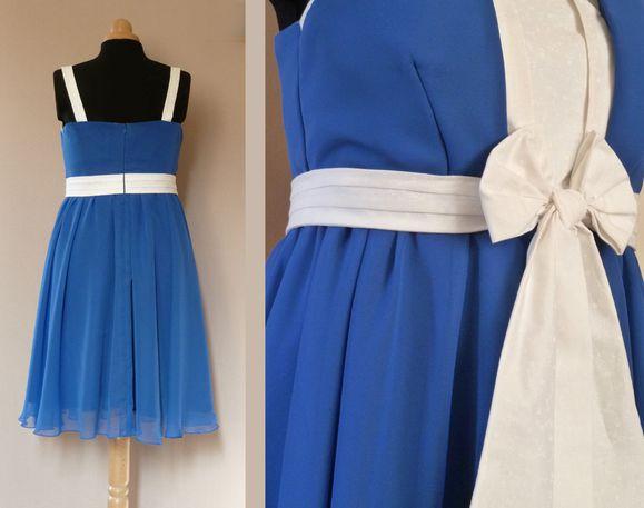 robe Mélissa Bleue et blanche 2