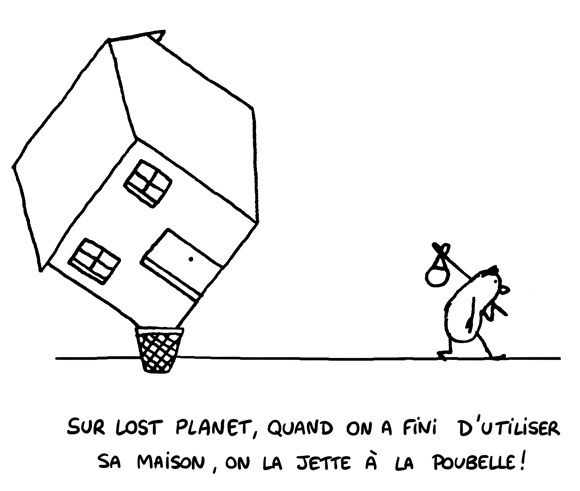 maison poubelle