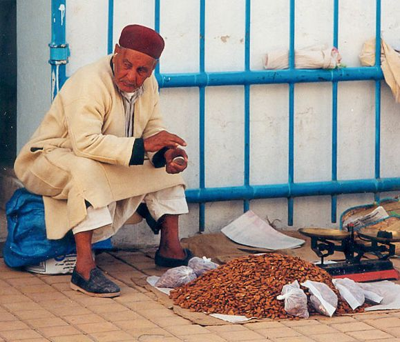 Marchand de dattes en Tunisie