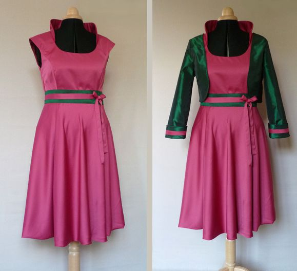robe-cocktail-satin-rose-et-taffetas-vert-Helene.JPG