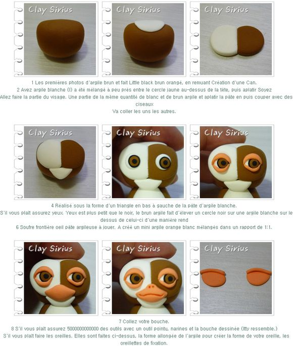tutoriel comment faire gizmo gremlins en fimo le blog de miss kawaii. Black Bedroom Furniture Sets. Home Design Ideas