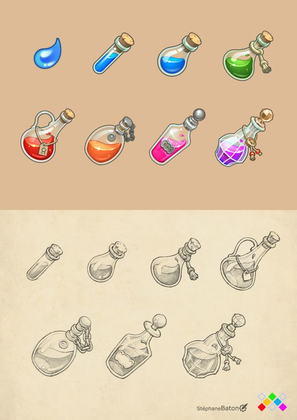 Icons for 2D game app Stephane Baton
