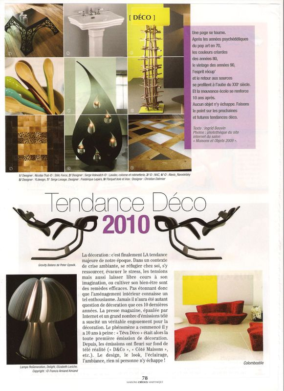 maisons cr oles magazine tendance d co 2010 le blog d 39 ingrid samson beuvin. Black Bedroom Furniture Sets. Home Design Ideas