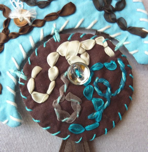 Collier textile turquoise (4)