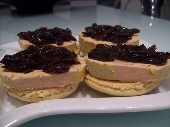 macarons foie gras chutney d'oignons rouge 3