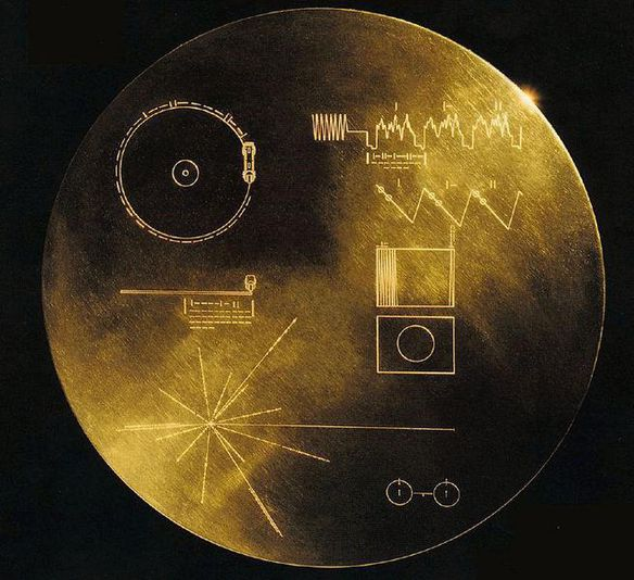Golden record sonde Voyager 1 1977