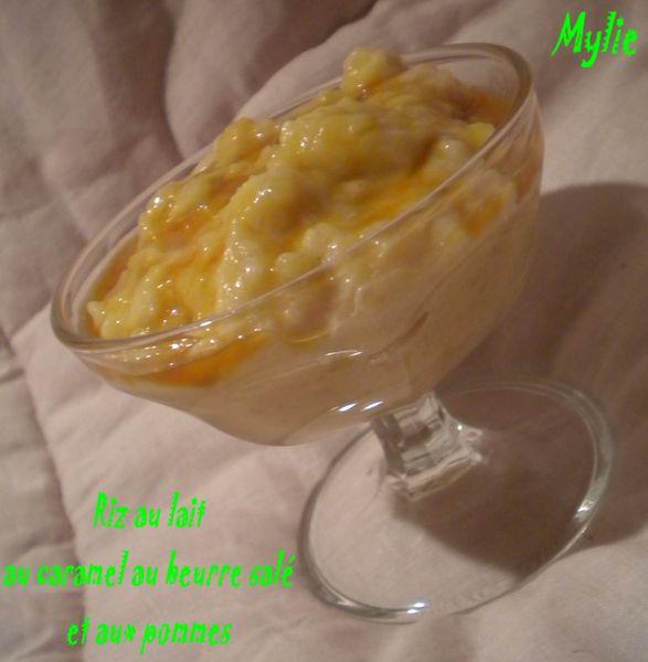 Riz au lait caramel beurre salé pomme 1