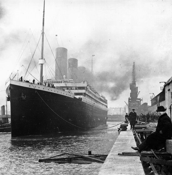 Titanic before departure Southampton