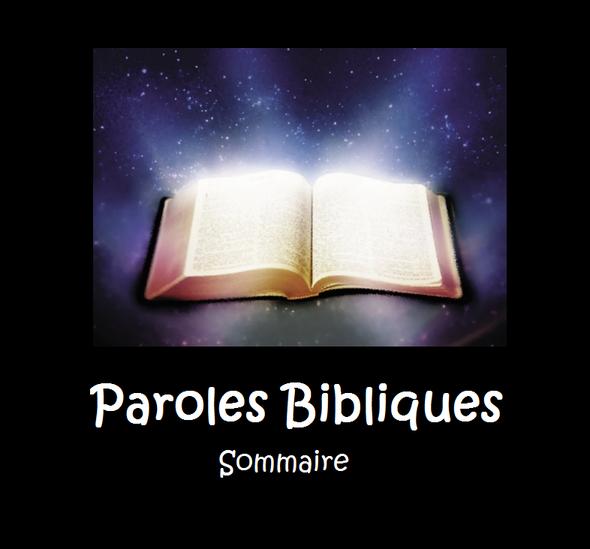 parole biblique sommaire