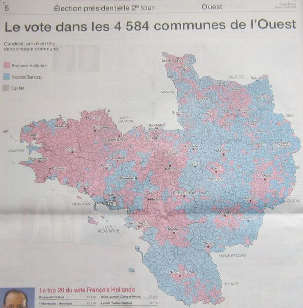 006r OF- Votes 4584 communes de l'Ouest