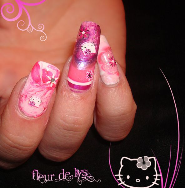 Nail Art Kitty ( de près )