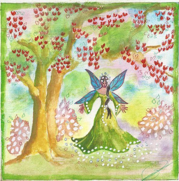 Petite fée verte du printemps