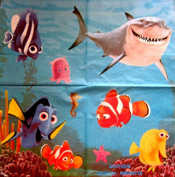 dora nemo poisson disney flipper fille napkins serviette en papier babouche serviettes en. Black Bedroom Furniture Sets. Home Design Ideas