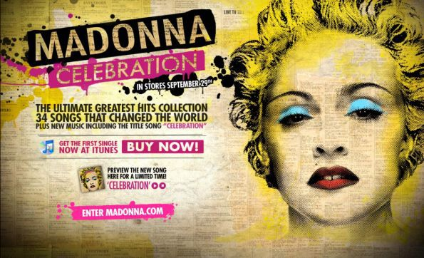 Madonna - ''Celebration'' single: Preview the whole song and Download Now!