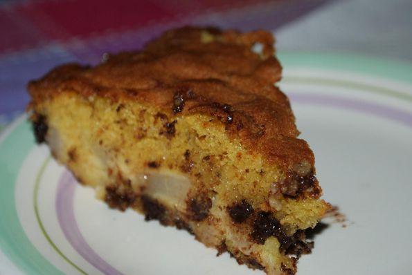 gateau moelleux poires chocolat (2)