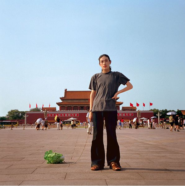 Bing Han 2001 Walking the Cabbage in Tiananmen