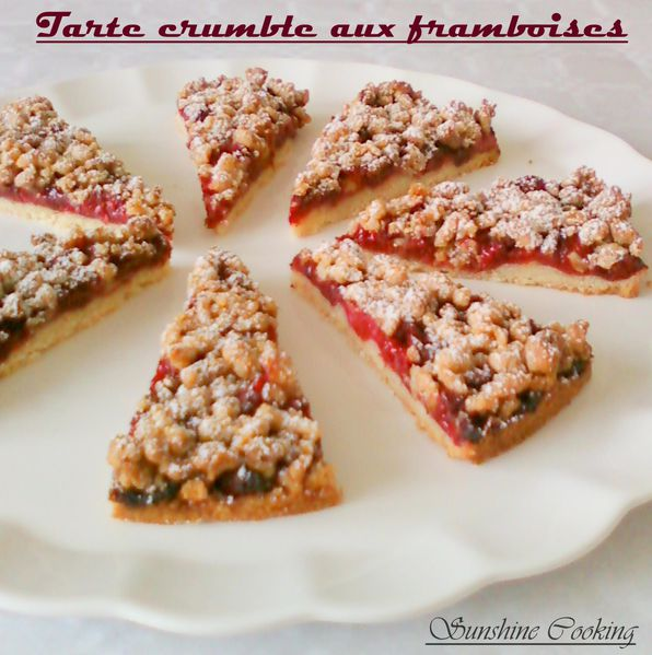 tarte crumble aux framboises sunshine cooking. Black Bedroom Furniture Sets. Home Design Ideas