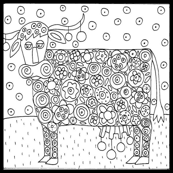 Karla gerard coloring pages coloring pages - Coloriage vache ...