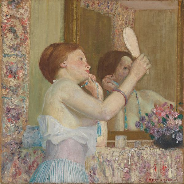 599px-Woman with a Mirror%2C Frieseke