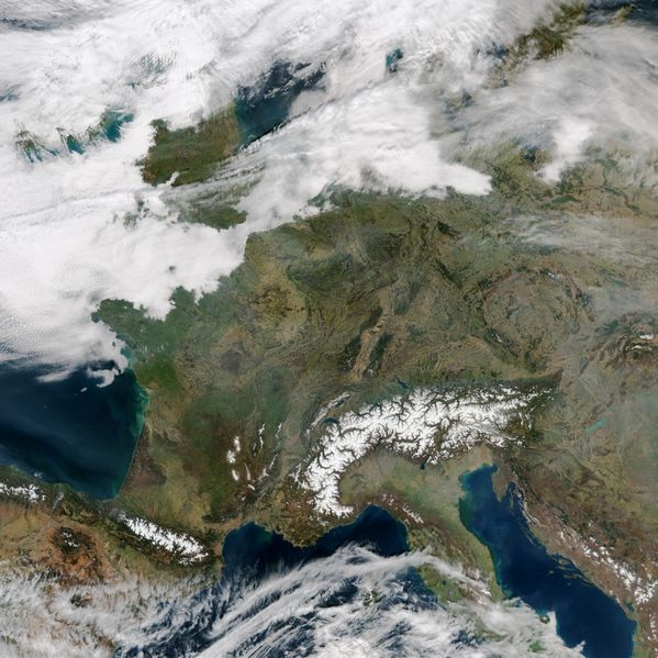 SUOMI - NPP - VIIRS - France Pollution - 14-03-2014