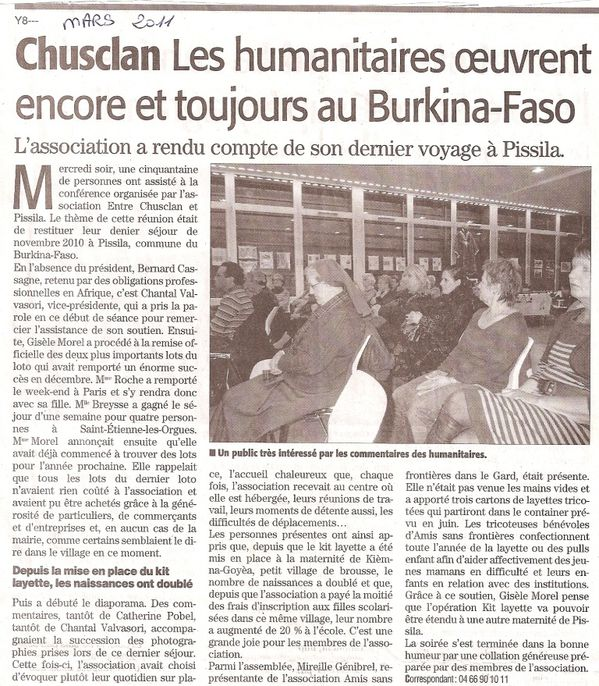 Midi Libre - 01-03-2011 - Restitution