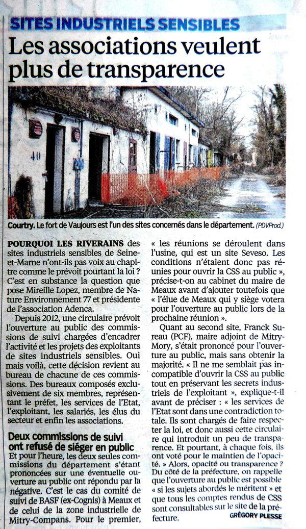Le PARISIEN 29.10.2014