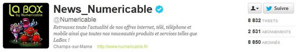 numericable sur twitter