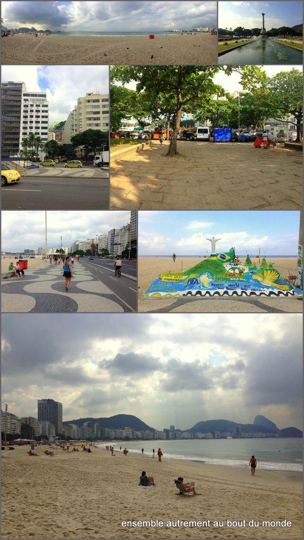 6bis autour du bivouac + Copacabana et Ipanema