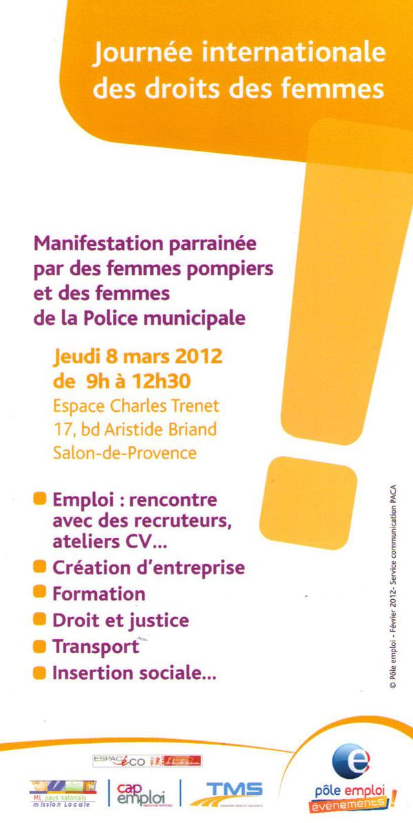 Journ e internationale des droits des femmes salon de for Centre de formation salon de provence