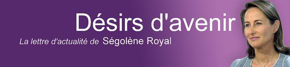 bannière Lettre d'actualité de Ségolène
