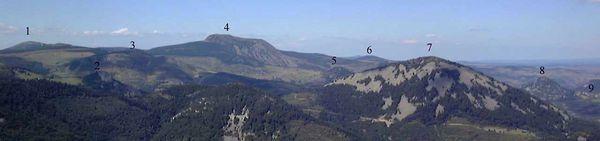 panorama du massif de Mézenc( du Gerbier) - p.suzzarini
