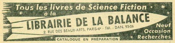 Publicite La Balance, Fiction N°5 avril 54