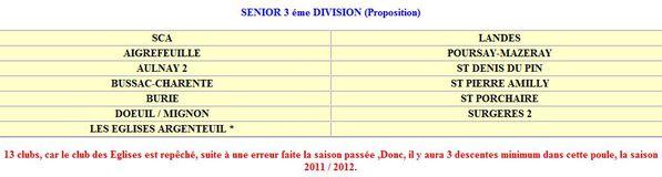 3e division 2011 proposition