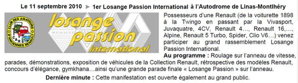 1er Losange Passion International